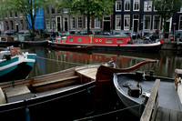 Amsterdam Central -  Boats in Canal 1