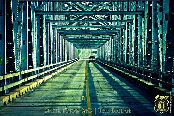 A color photo of the Shell Knob, MO Bridge which sits over Table Rock Lake.  Circa 2007.  Shot in the evening.