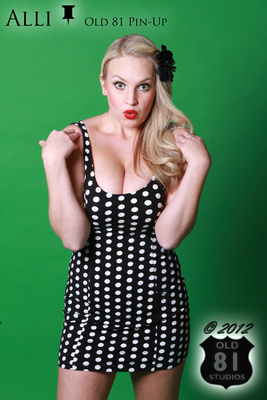 Polka Dot Retro Vintage Pinup Wichita Kansas Ks Old 81 Pin-Up Classic